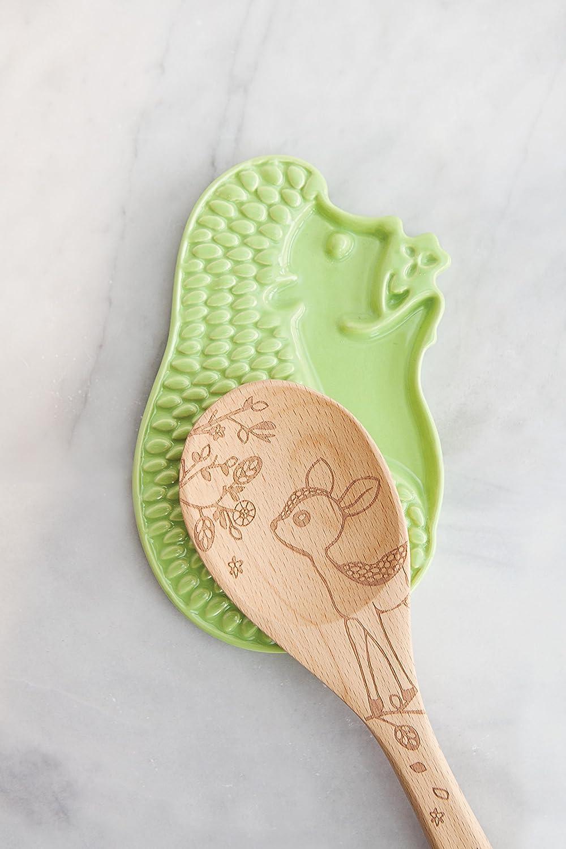 Talisman Designs 1850 Hedgehog Ceramic Spoon Rest Green