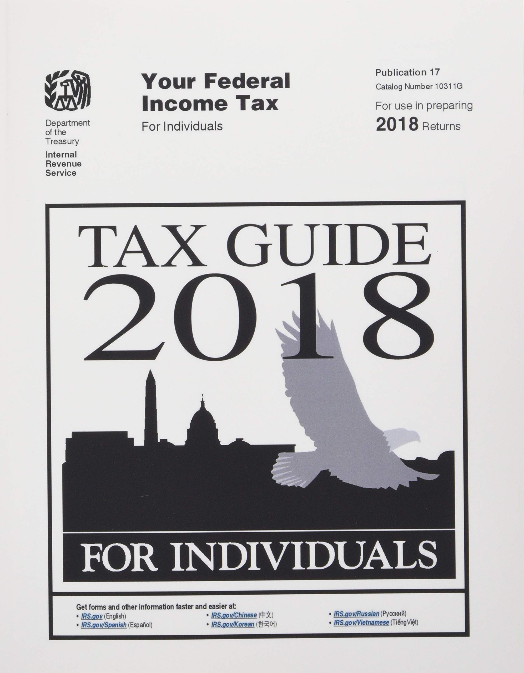 Tax Guide 2018 For Individuals Publication 17 U S Internal Revenue Service Irs 9781796245929 Amazon Com Books