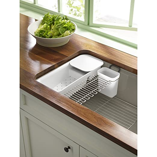 kohler k 6194 st riverby utility rack with soaking cup sink strainers amazoncom - Kohler Sple Dienstprogramm Rack