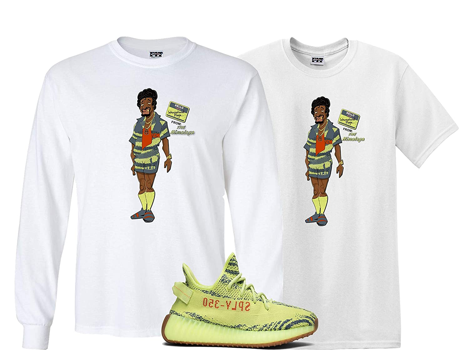 221fcdd6 We Will Fit Jerome Shirt to Match The Adidas Yeezy Boost 350 V2 SEMI Frozen  Yellow YEBRA | Amazon.com