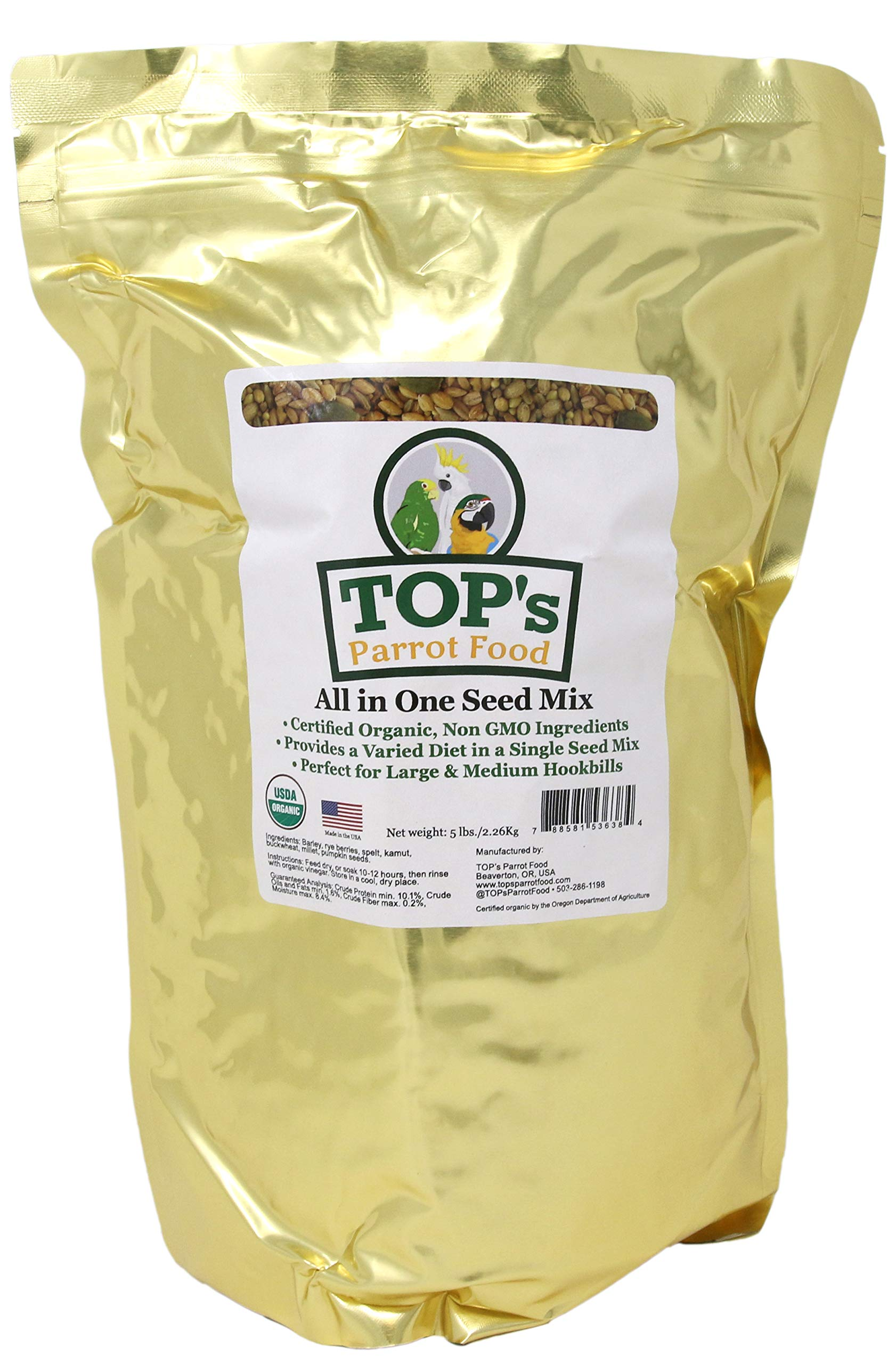 TOP All in One Seed Mix 5 Lb by TOP's Parrot Food