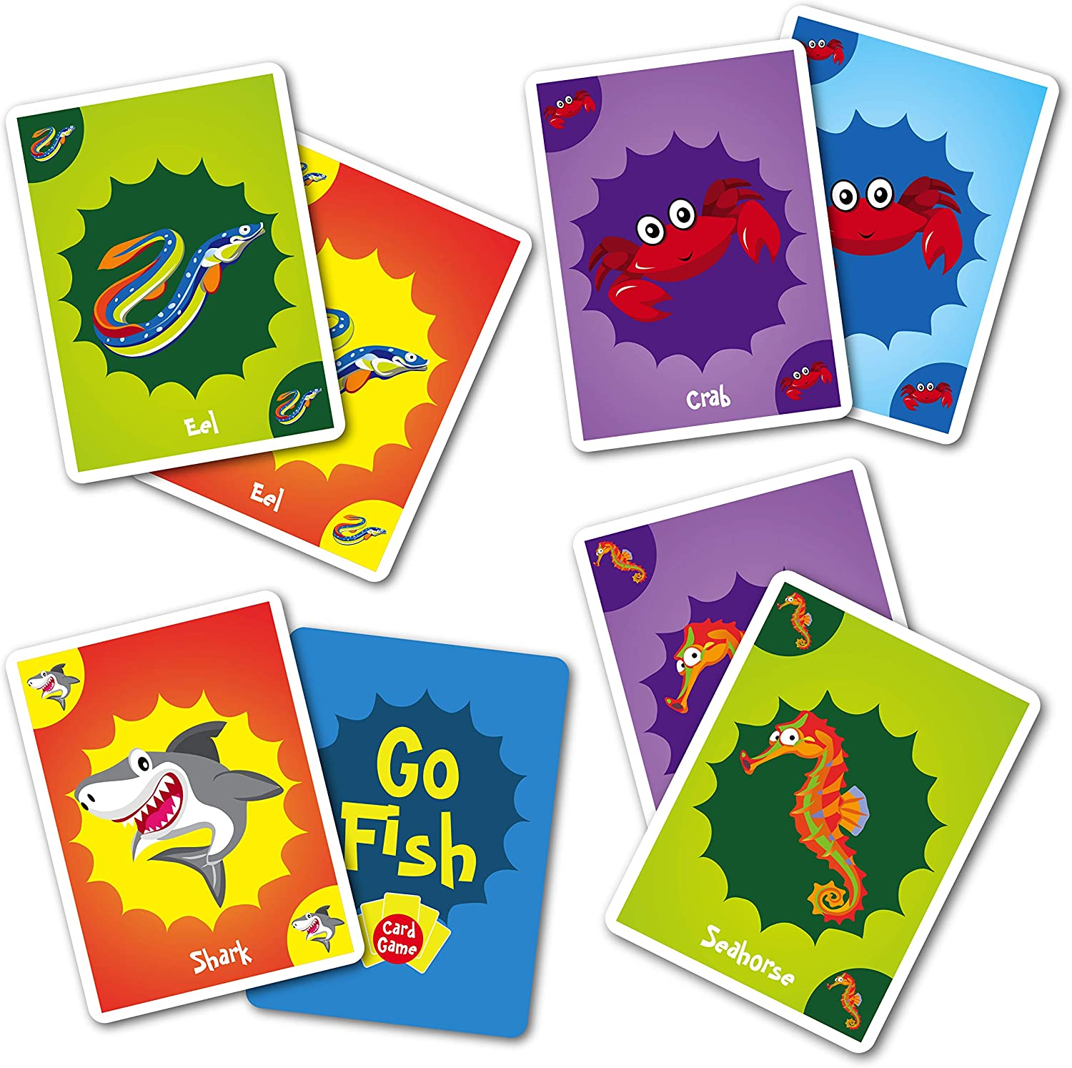 Go fish board game for reading fluency