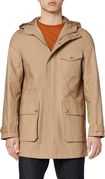 Wax Coated Belted Chaqueta Hombre Marca find