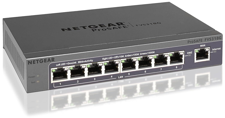 Amazon.com: NETGEAR ProSAFE FVS318G 8-Port Gigabit VPN Firewall ...