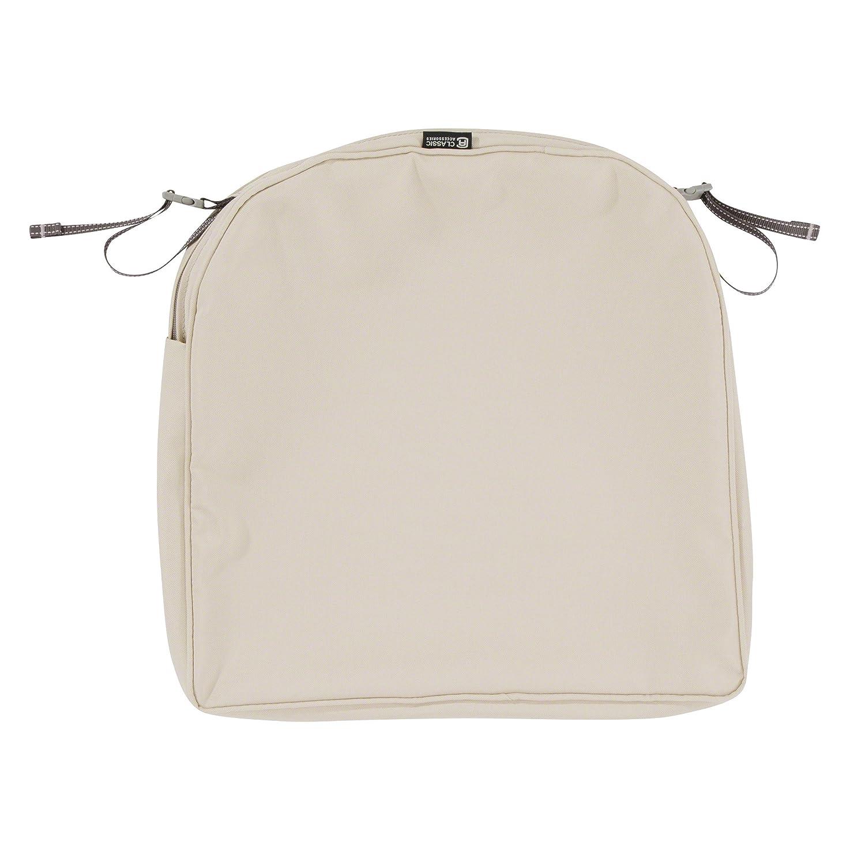 Classic Accessories Montlake Patio Back Cushion Slip Cover, Antique Beige, 20x20x2 Contoured