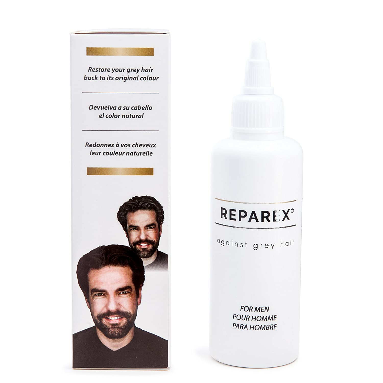Gray Hair Formula For Natural Hair Color Restoration By Reparex For