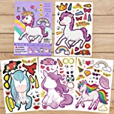 Unicorn Stickers for Kids - Make A Unicorn Stickers,Birthday Party Supplies, Unicorn Party Games Favors and Decorations DIY S