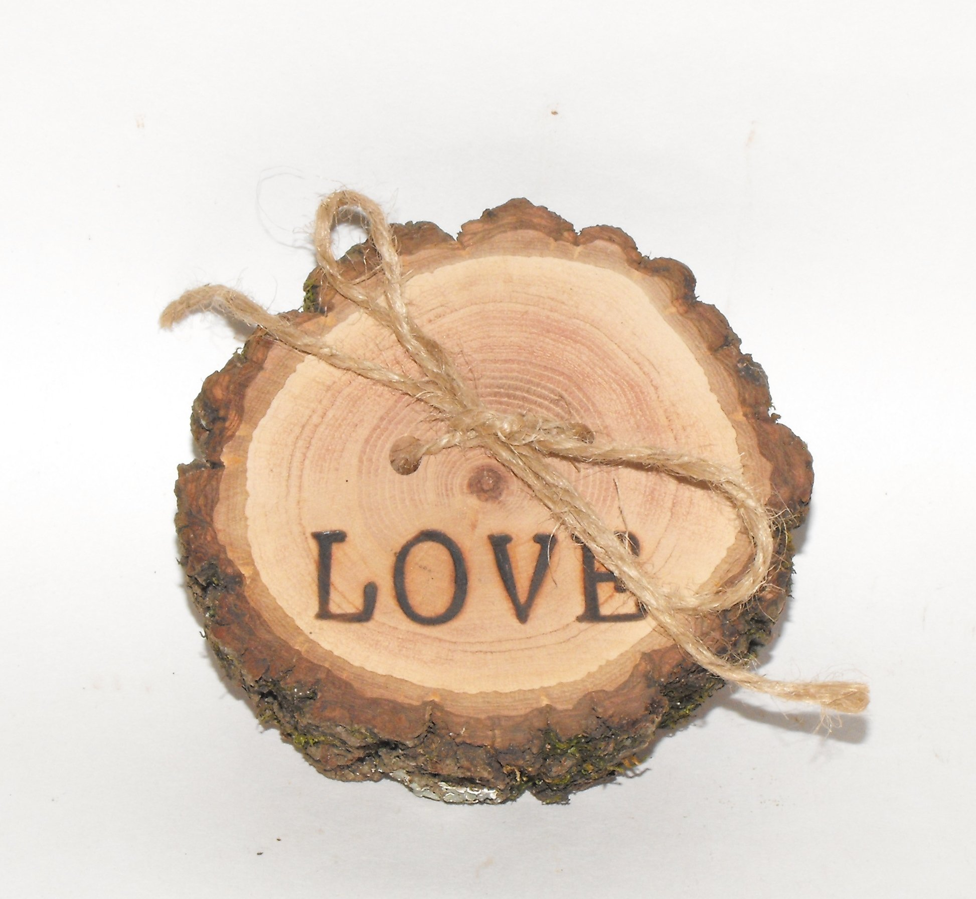 Wedding Wood Ring Pillow Rustic Country Ring Engagement Ring Bearer LOVE burned