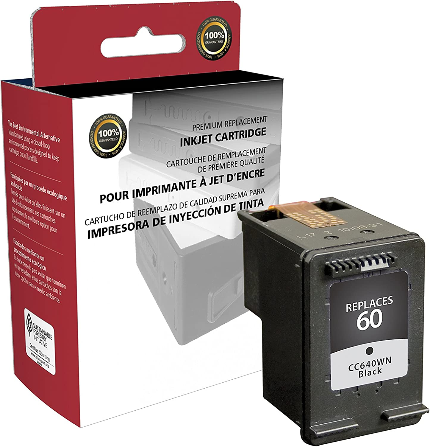 Inksters Remanufactured Ink Cartridge Replacement for HP 60 Black CC640WN HP 60