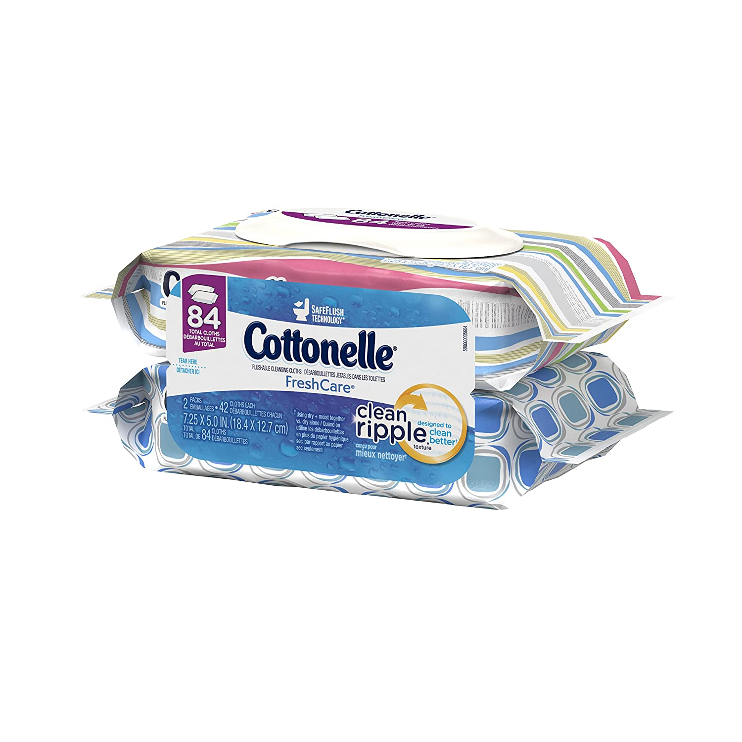 $5.21 (was $10.98) Cottonelle FreshCare Flushable Cleansing Cloths Refill, 84 Count (2 Packs of 42 Cloths)