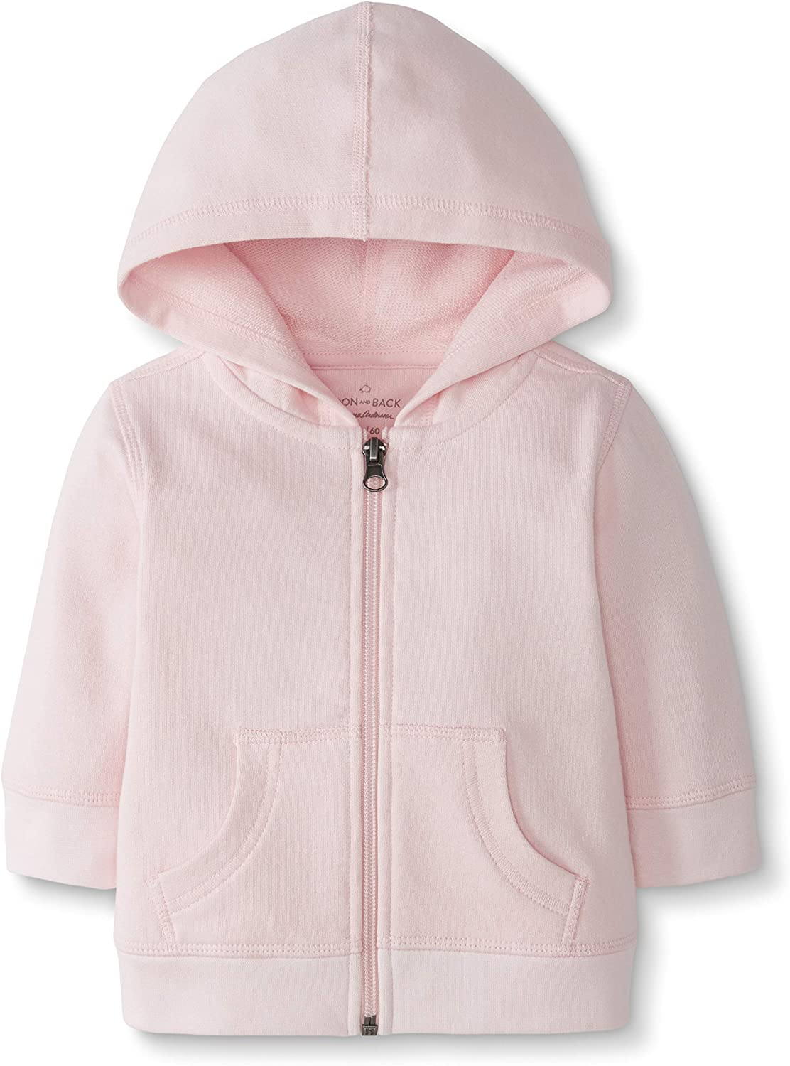 Moon and Back by Hanna Andersson Baby Hooded Sweatshirt Pink 0-3 months