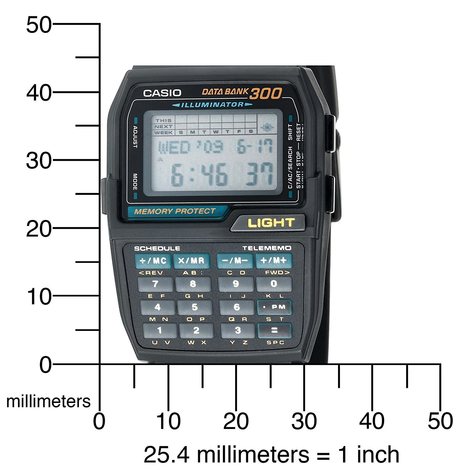 a28eddce1de Amazon.com  Casio Mens DBC310-1 Databank 300 Digital Watch (Discontinued by  Manufacturer)  Casio  Home Audio   Theater