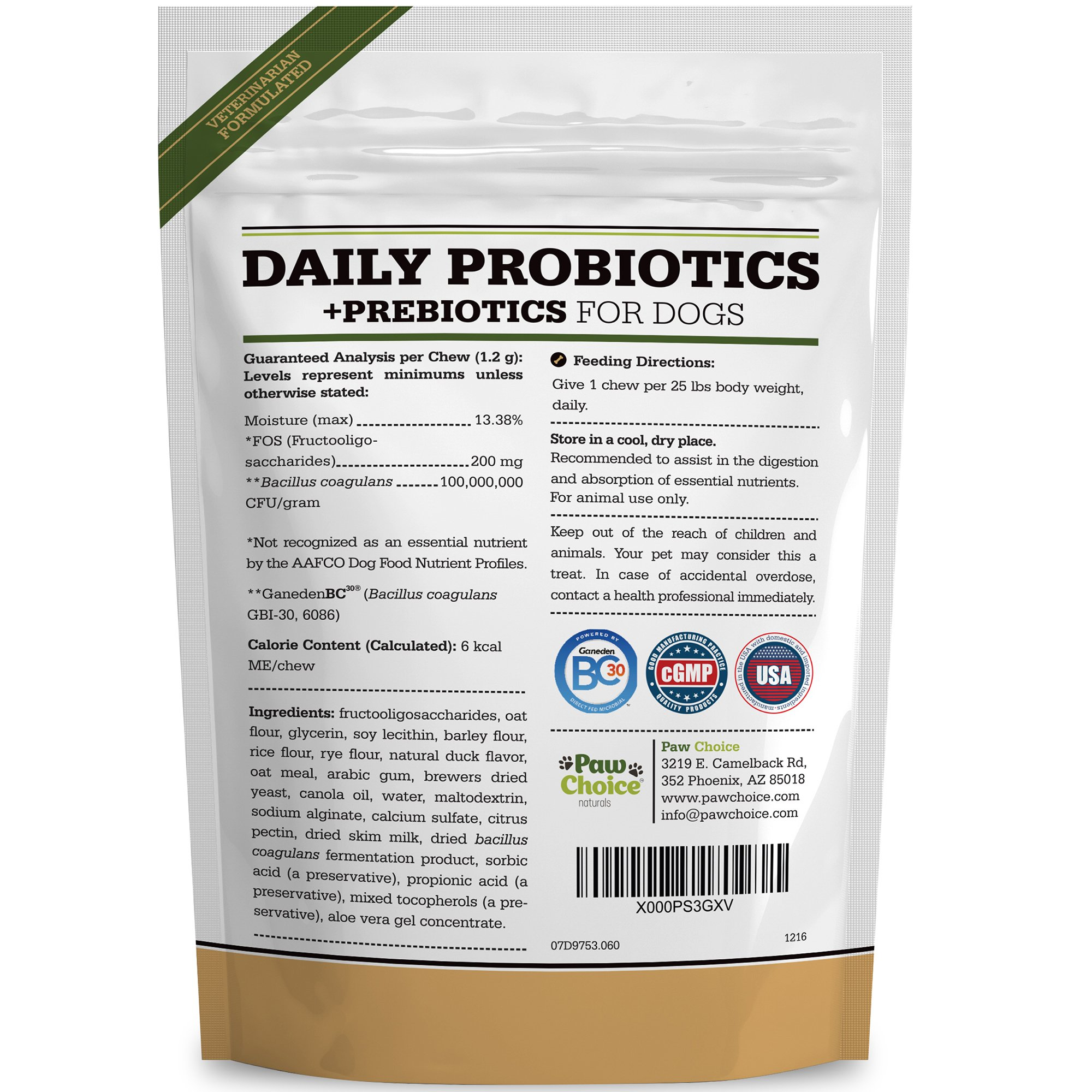 Probiotics for Dogs with Prebiotics - Daily Chews for Digestion, Regularity, Diarrhea Relief, Plus Supports Immune System and Health - Natural Supplement and Treat Made in USA by Paw Choice (Image #6)