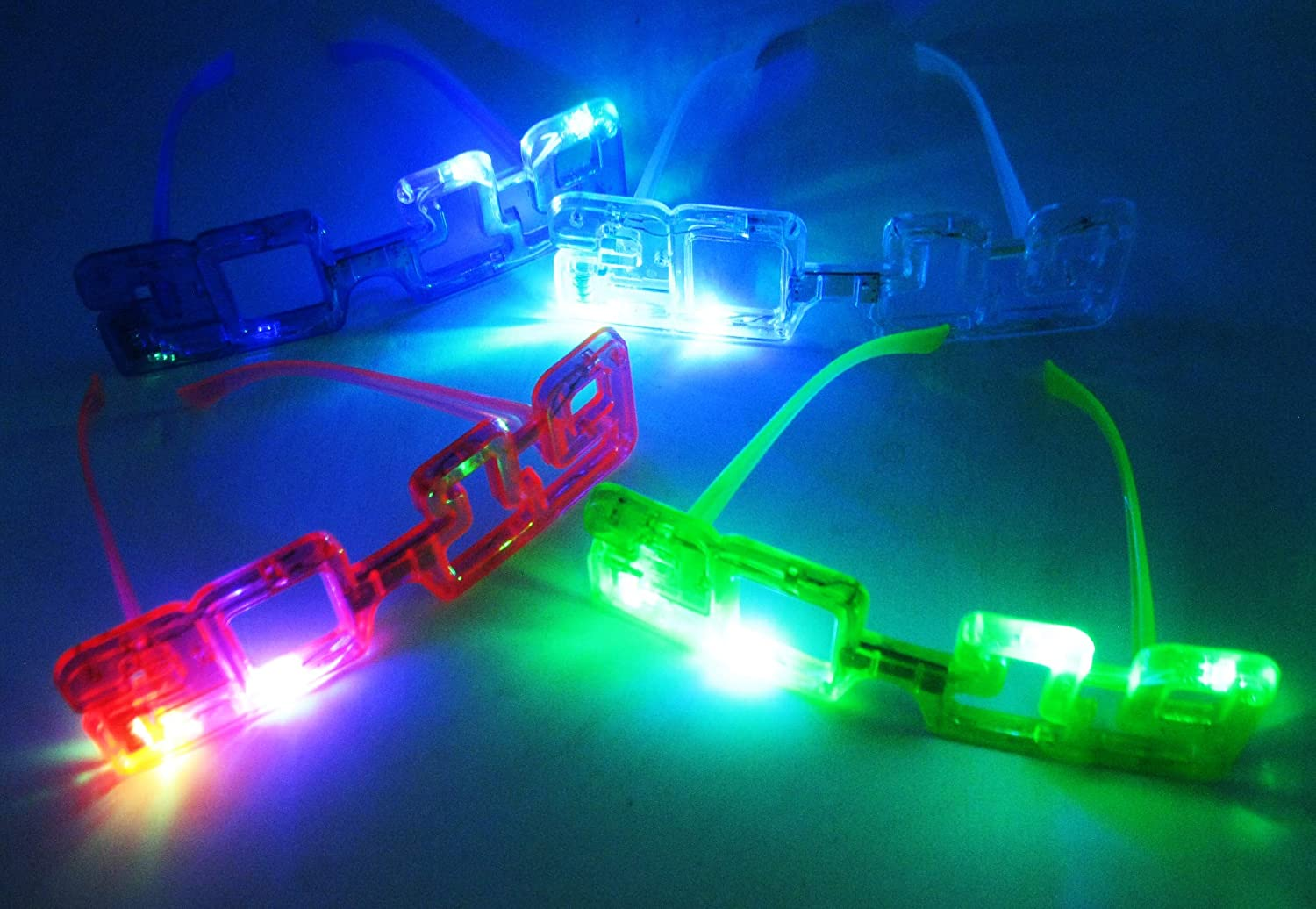 12//pk Light Up New Year Party supplies 2019 Sunglasses Glasses Glowing Eyes Led Shades HnF shop SG/_B076TS6QPR/_US