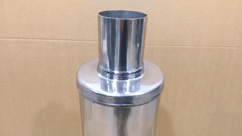 universel Silencieux /Échappement r/ésonateur de silencieux 63.5/mm X 355/mm x 127/mm 6,3/x 35,6/x 12,7/cm