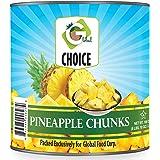 Global Choice - Pineapple Chunks in Light Syrup - 106 oz (3 KG) - JUMBO size -