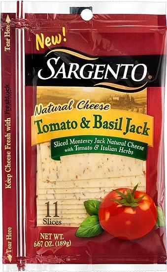 sargento sliced tomato and basil jack natural cheese 7 oz amazon