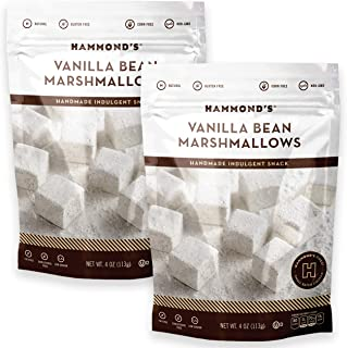 product image for Hammond's Candies - Gourmet Vanilla Bean Marshmallows - 2 Bags, Great for Snacking, Hot Chocolate, S'mores and Homemade Brownies, Small Batches, Handcrafted in the USA
