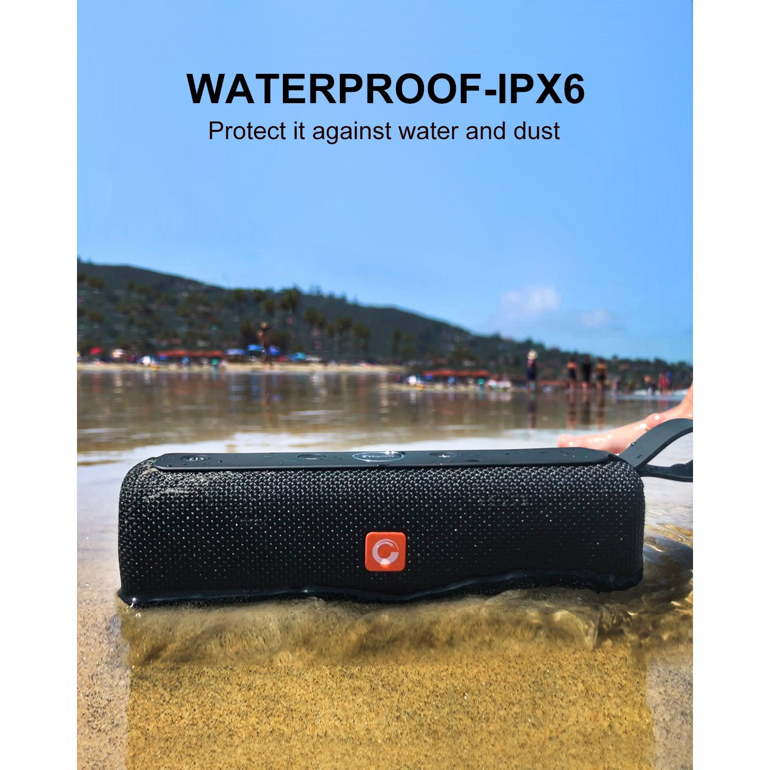 DOSS E-go II Portable Wireless Bluetooth Speaker with Loud Stero Sound 6W/¡/Á2 Drivers up to 12 Hour Playtime Built-in Mic Enhanced Bass IPX6 Waterproof
