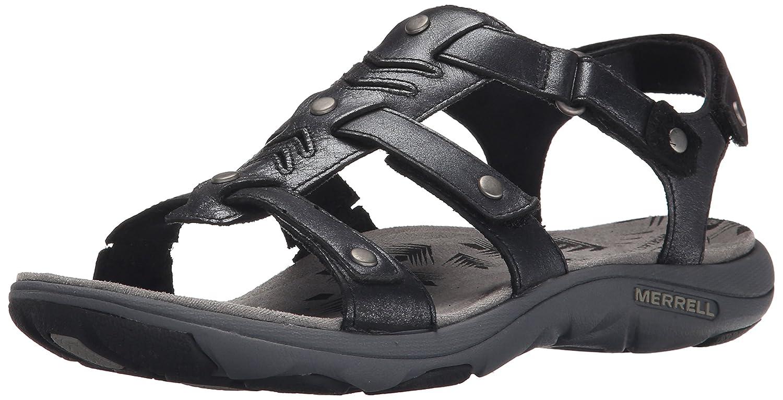 Black merrell sandals - Amazon Com Merrell Women S Adhera Strap Backstrap Sandal Sport Sandals Slides