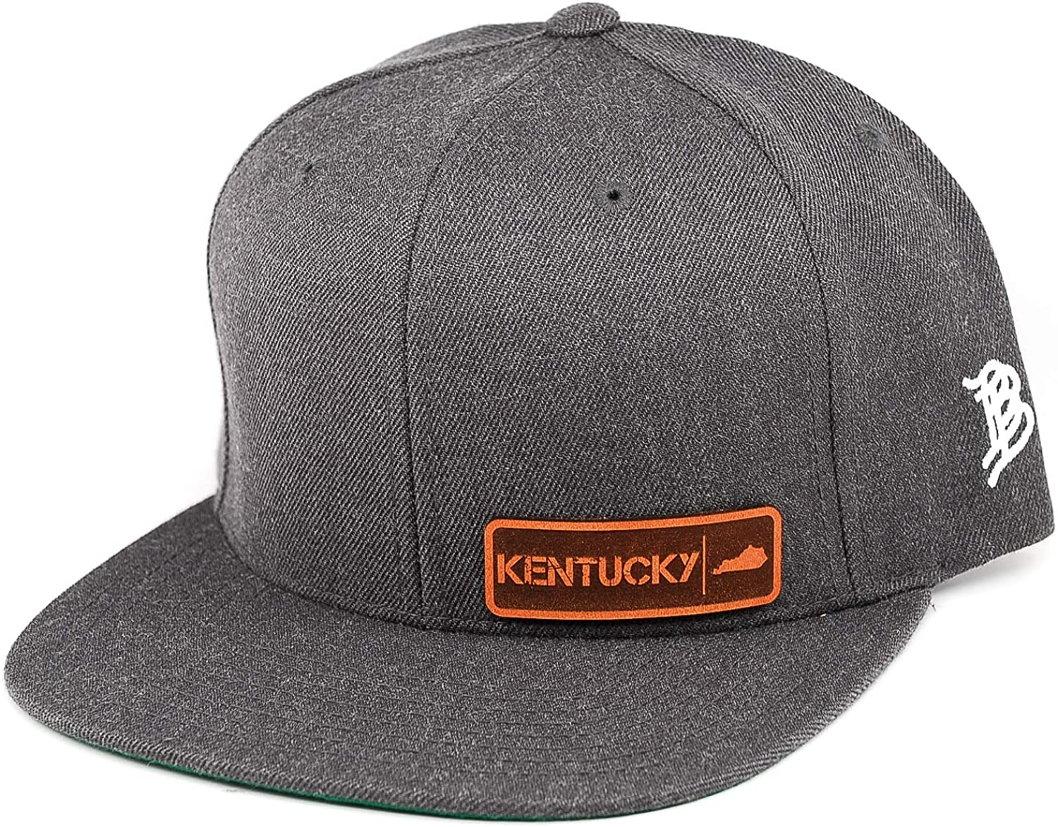 OSFA//Charcoal Branded Bills /'Kentucky Native Leather Patch Snapback Hat