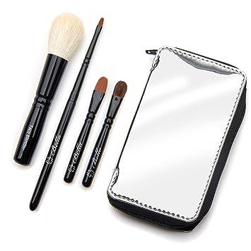 f8b6b0d38f91 Amazon.com  Bella Mini Travel Makeup Brush Set with Mirror Travel ...