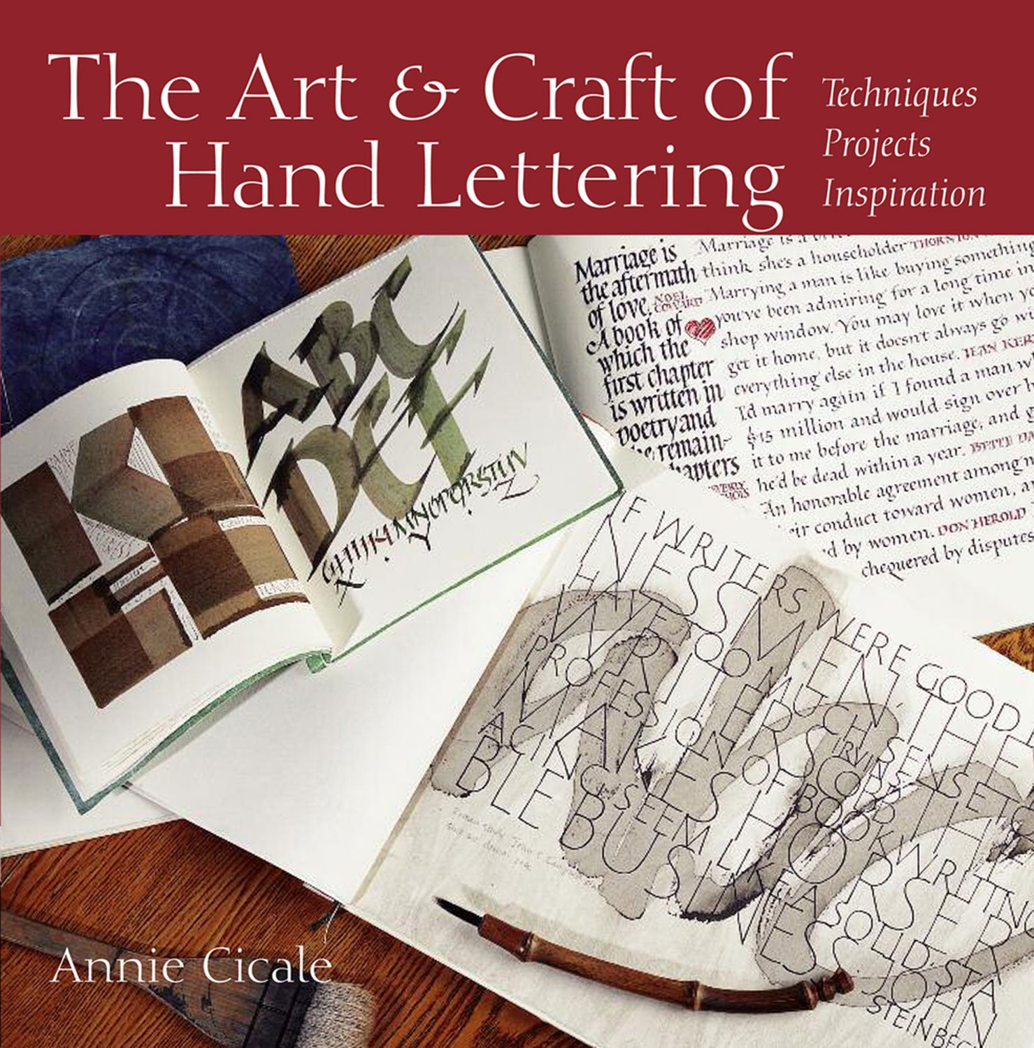 The Art And Craft Of Hand Lettering Techniques Projects Inspiration Annie Cicale 9780615466965 Amazon Books