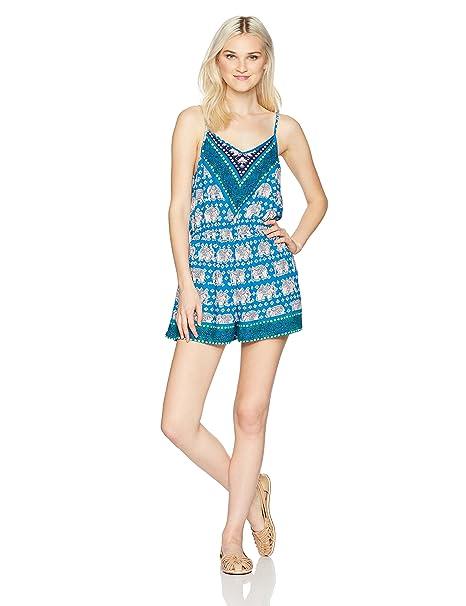 e8d031db033 Amazon.com  Angie Juniors Spaghetti Strap Romper  Clothing