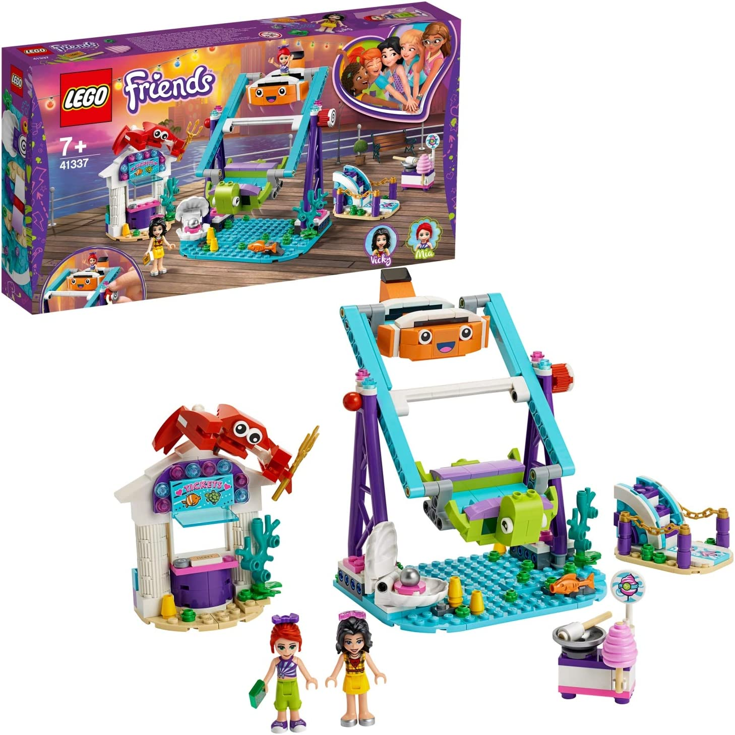 LEGO Friends - Noria Submarina Nuevo juguete de construcción de Atracción de Feria, incluye Puesto de Venta de Algodón de Azucar y 2 mini muñecas (41337): Amazon.es: Juguetes y juegos