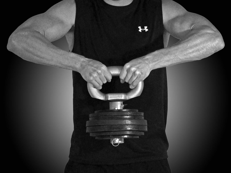 Kettlebud Adjustable Kettlebell Handle – Uses Plates 5-100 pounds