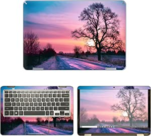 decalrus - Protective Decal Sunset Skin Sticker for Samsung Notebook 7 Spin NP730QAA (13.3