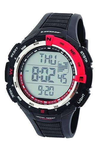 Dunlop DUN-226-G07 - Reloj digital de cuarzo para hombre, correa de plástico color negro: Amazon.es: Relojes