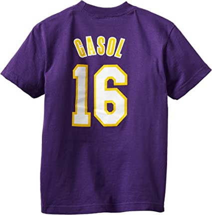 16 White Youth X-Large NBA by Outerstuff NBA Kids /& Youth Girls Los Angeles Lakers Point Guard Short Sleeve Tee