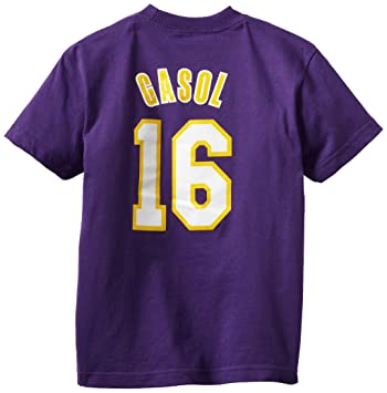 Outerstuff NBA Los Angeles Lakers Pau Gasol Youth 8 – 20 de manga corta camiseta Juego