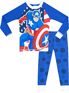 Marvel Captain America Boys Captain America Pajamas