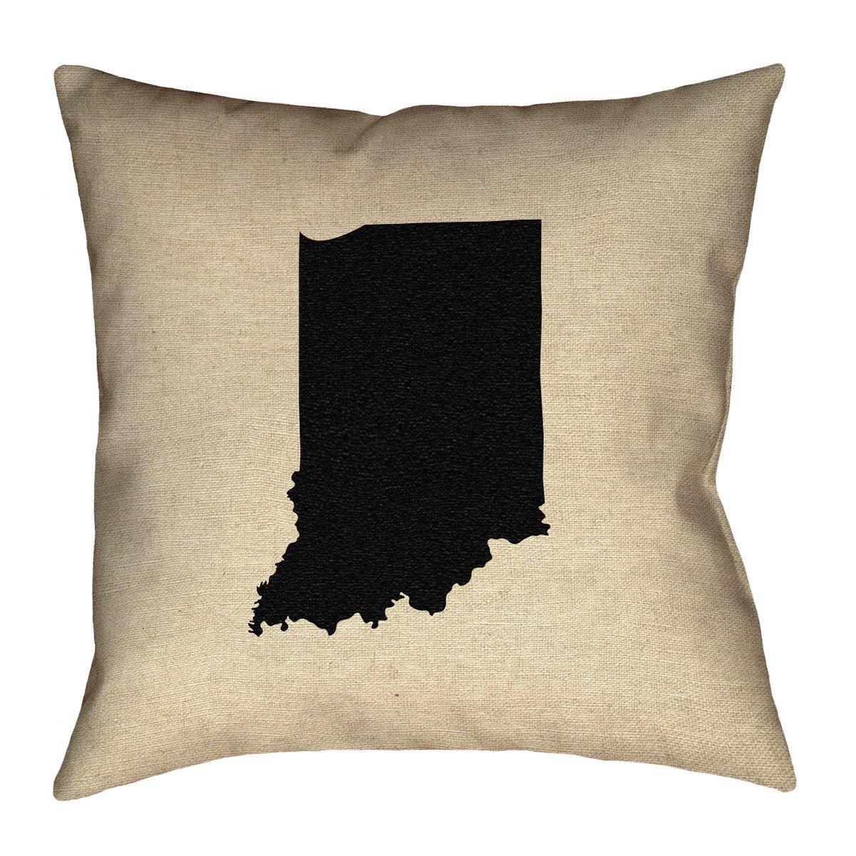 ArtVerse Katelyn Smith 14 x 14 Spun Polyester Indiana Pillow