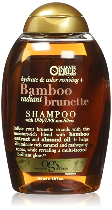 7e527d582 OGX Hydrate & Color Reviving + Bamboo Radiant Brunette Shampoo 13 Ounce