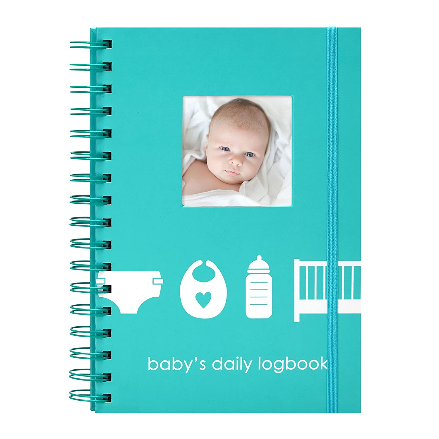 Pearhead Baby's Daily Log Book, Track and Monitor Your Newborn Baby's Schedule 35005