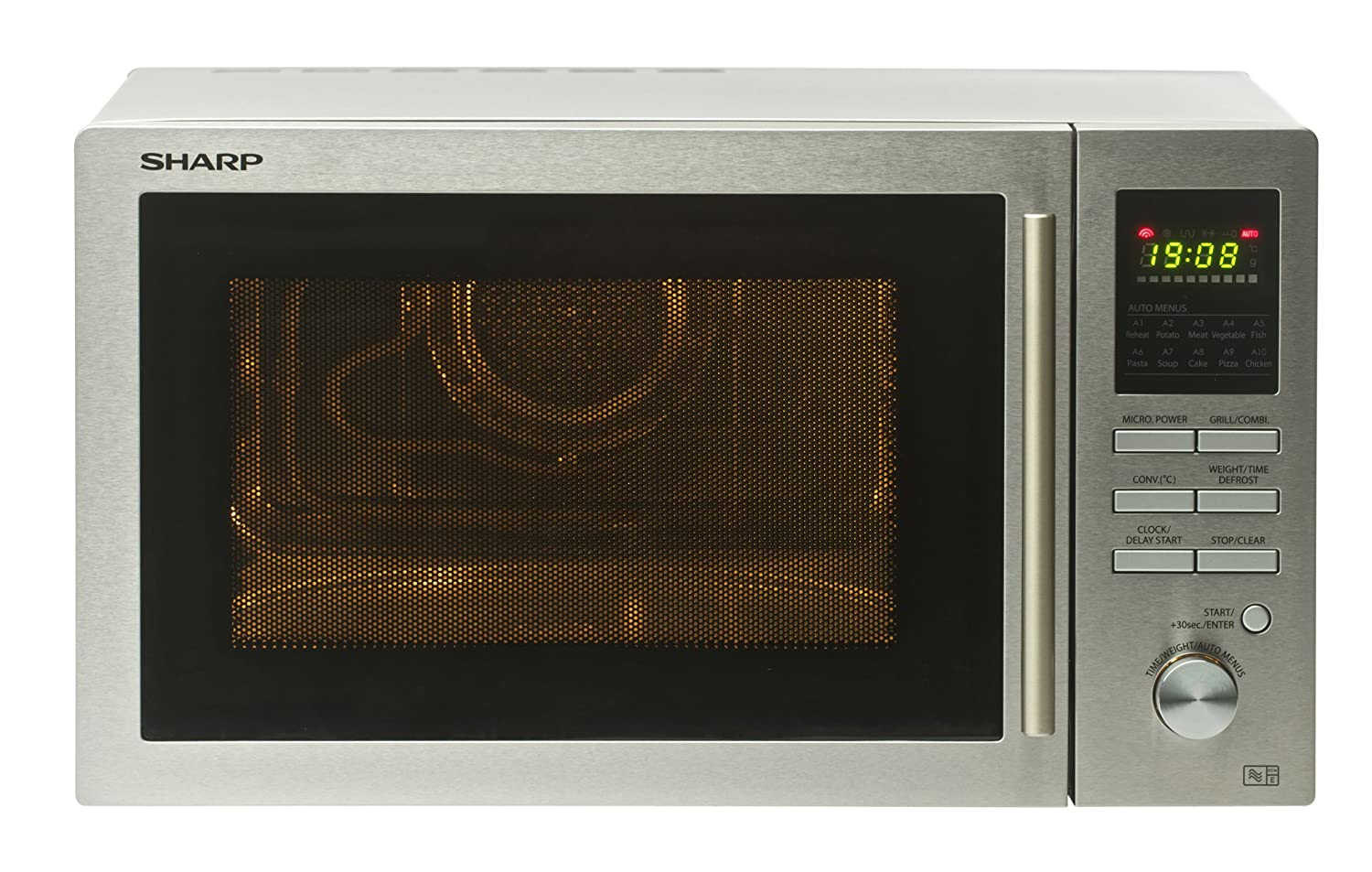 SHARP R82STMA Combi Microwave Oven with 1 Year Warranty, 25 Litre, 900 Watt, Sil - AUD 593.99 ...