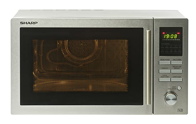 Sharp - Horno microondas (25 l, 900 W, acero inoxidable): Amazon ...