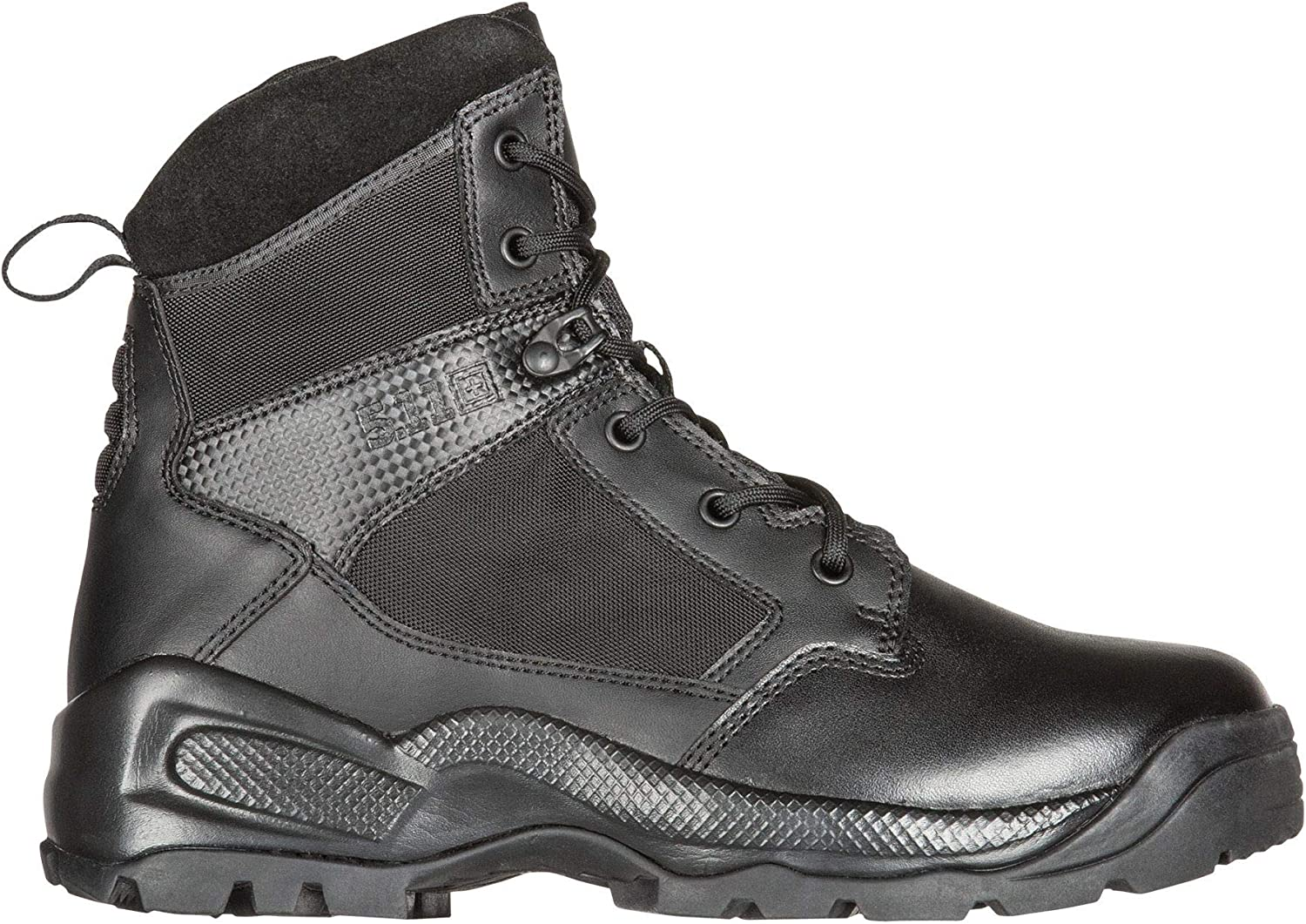 "5.11 Men's ATAC 2.0 6"" Tactical Side Zip Military Boot, Style 12394, Black"