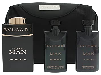 afee094ae261a Amazon.com   Bvlgari In Black Coffret  Eau De Parfum Spray 100ml 3.4oz +  After Shave Balm 75ml 2.5oz + Shower Gel 75ml 2.5oz + Pouch 3pcs+1pouch    Beauty
