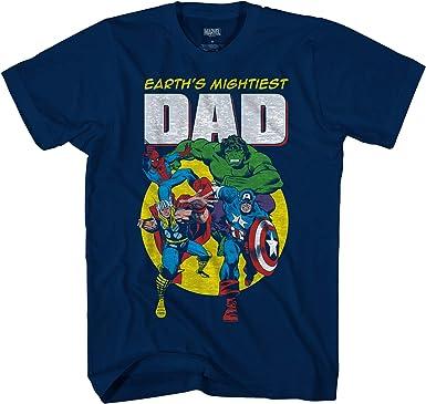 Marvel Avengers Mightiest Dad Hulk Captain America Graphic Adult T-Shirt