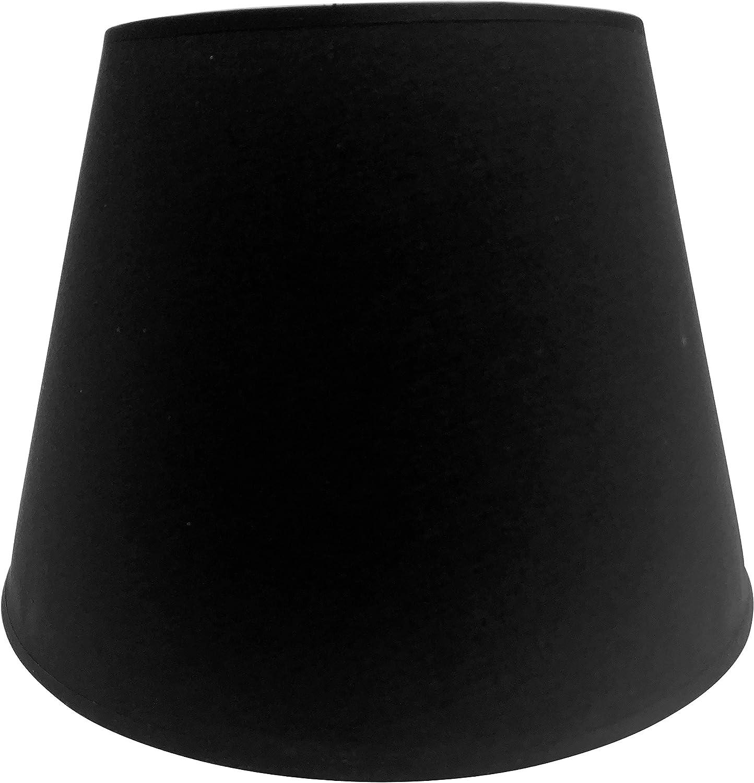 Lampenschirm Tischleuchte Stehlampe Schwarz Stoff E14 Gross Amazon De Beleuchtung
