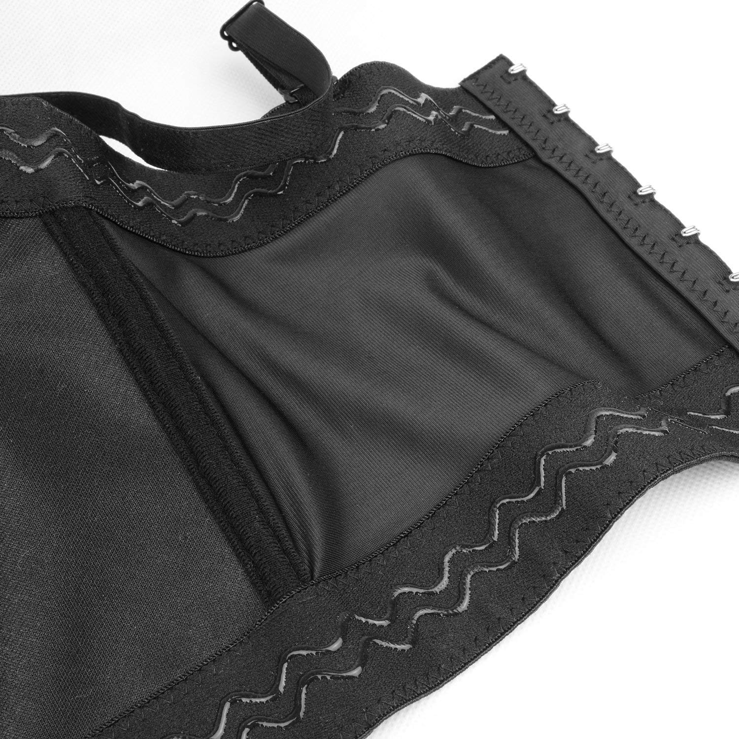 a903e6e163a Amazon.com  ELLACCI Sexy Star PU Leather Bustier Crop Top Gothic Punk Push  Up Women s Corset Top Bra Black X-Small  Clothing
