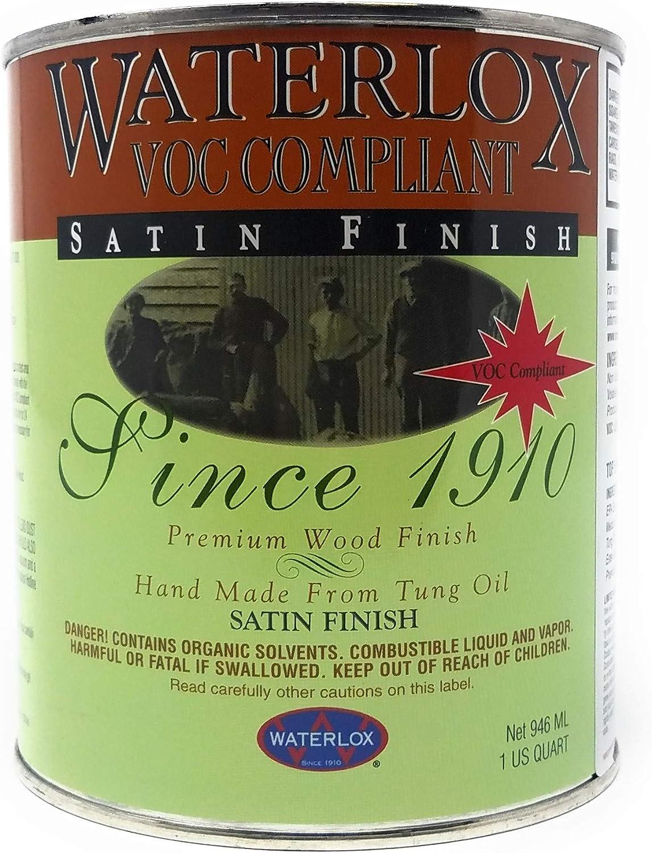 Waterlox TB6035 QT 6035-QT Wood Finish, Clear