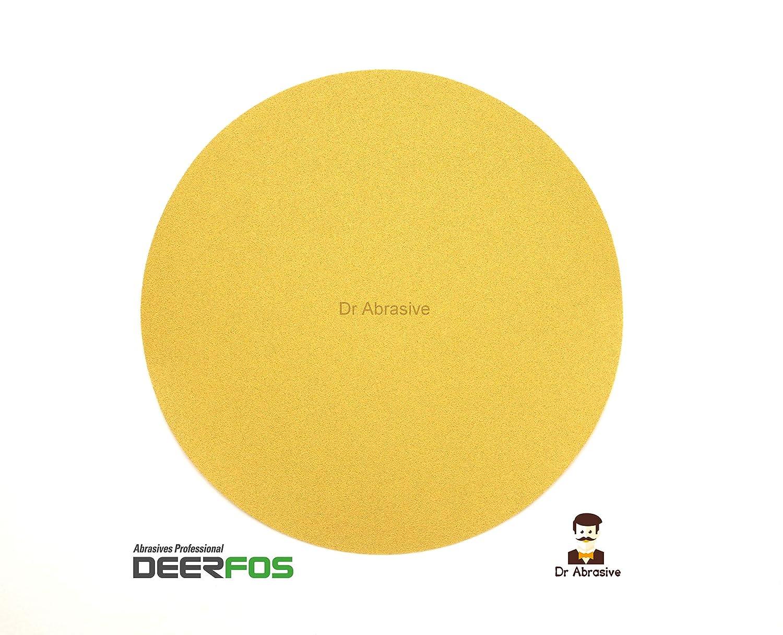 300mm 12 Sanding Discs DEERFOS Sandpaper Pads Hook and Loop Grit P180 Pack of 10
