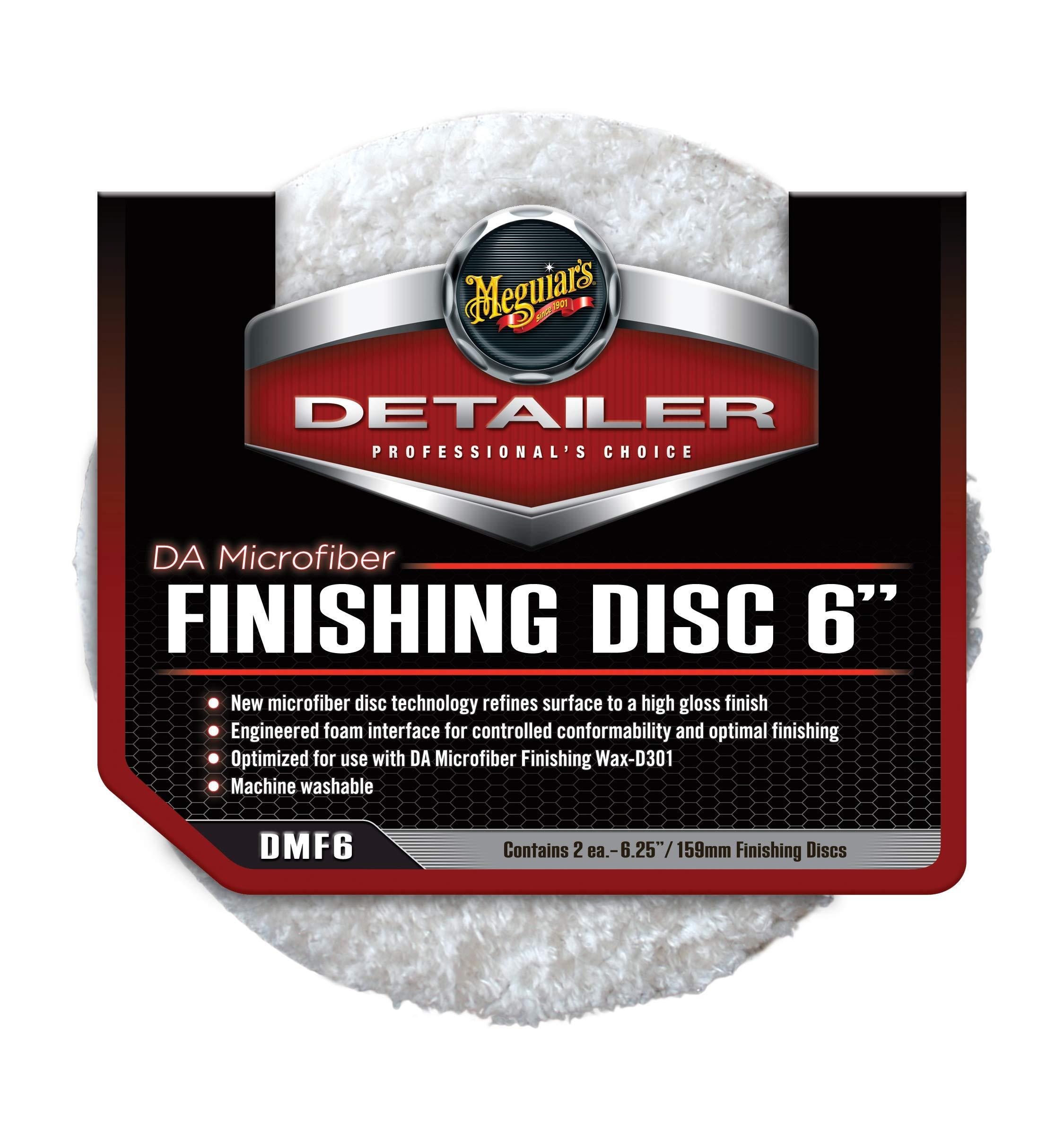 Meguiar's DMF6 DA 6'' Microfiber Finishing Disc, 2 Pack