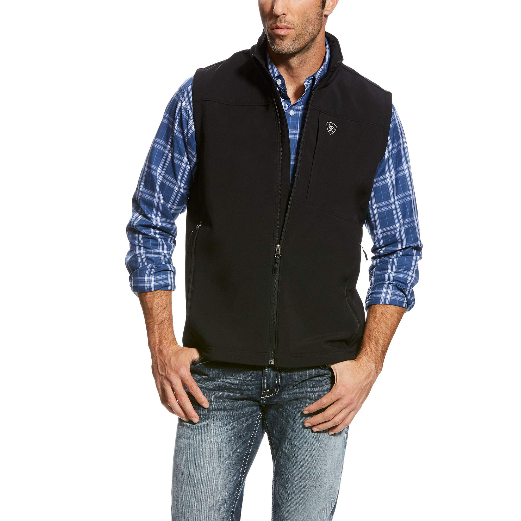ARIAT Men's Vernon 2.0 Softshell Vest, Black, MED by ARIAT