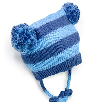 2c290b5d952 Amazon.com   BeanieDesigns Organic Cotton Baby Infant Handmade Pompoms Beanie  Hat Toddler Boys Girls Kid Beanie Cap Tan   Baby